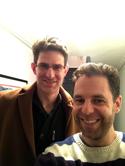 With Joe Goodkin, Brooklyn, March 2018.