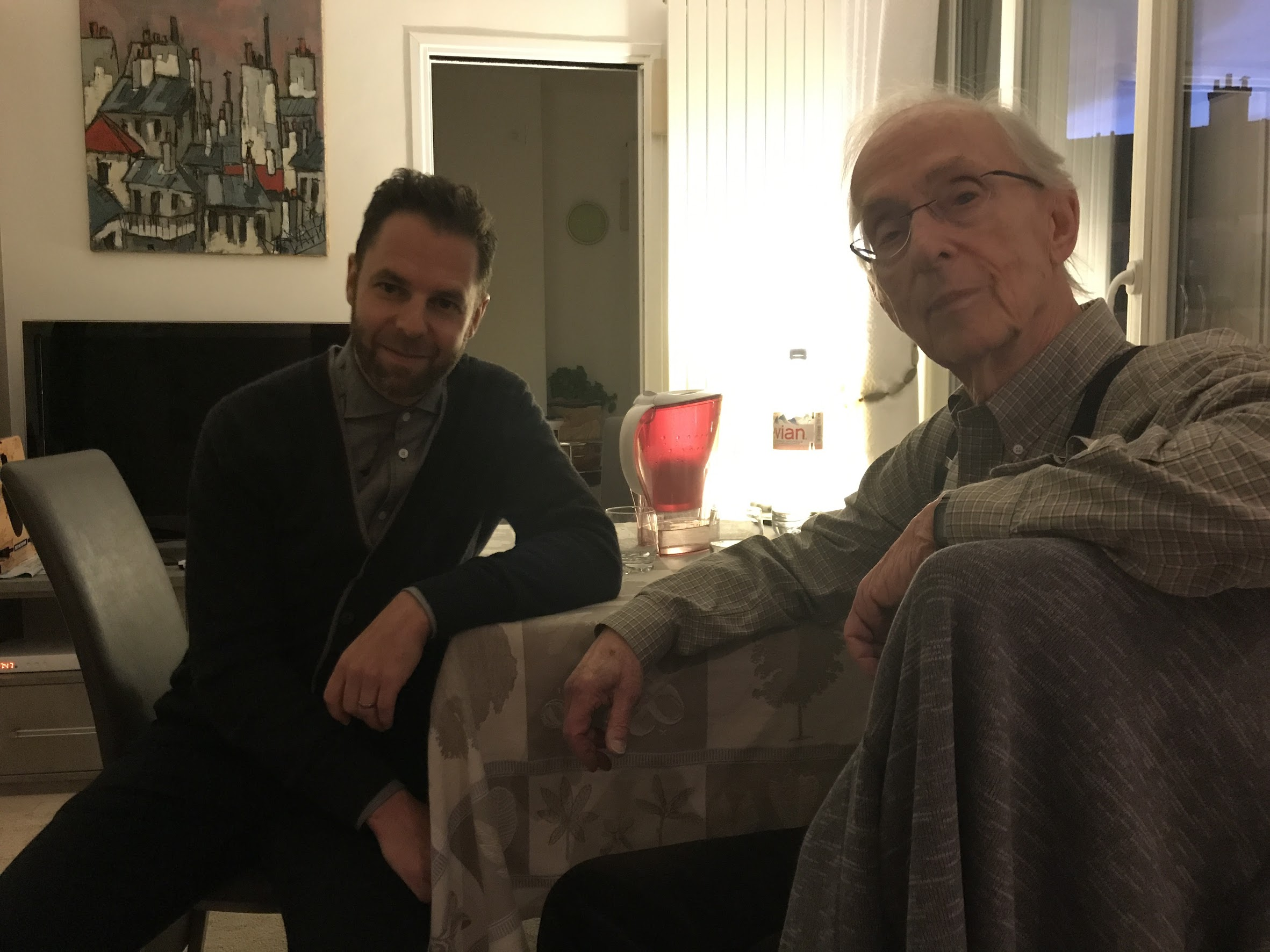 With Howard Becker, Paris, November 2017