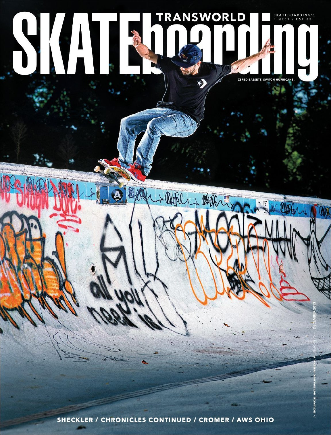 This is switch. Switch hurricane, Transworld Skateboarding, December 2013.