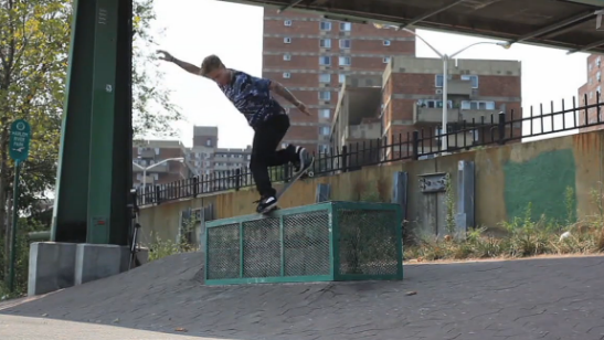 Leave it to a goofball from California to go buck on this NYC (former) spot. Nick Trapasso, backside noseblunt.  Theatrix , 2014.