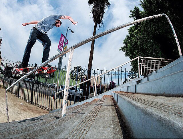 Street League has obviously taught Matt Berger a thing or two. Sugarcane at Hollywood High, 2014.