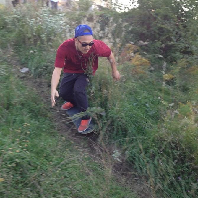 Yohasegawa with a dirt hill bomb. Photo  London Luke