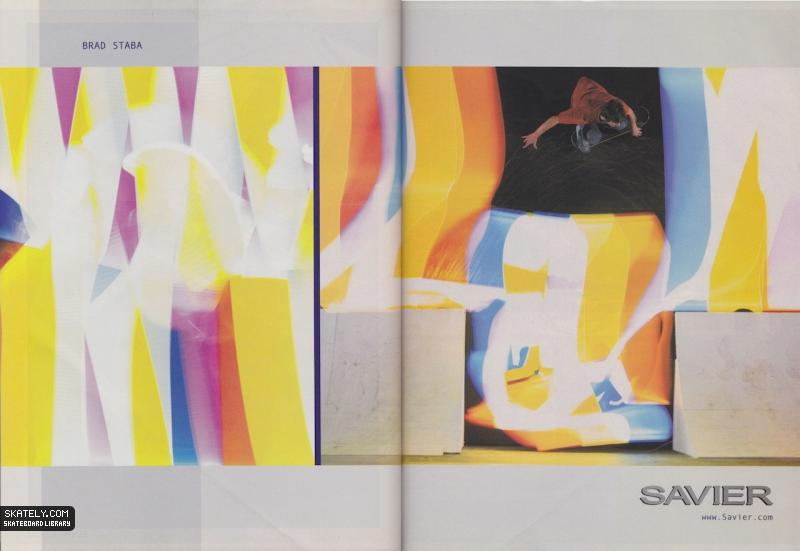 Savier did a few things right, and ads were one of those things. Brad Staba, wallride. 2001.