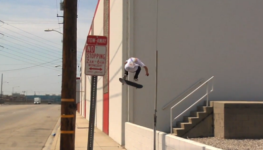 Auby Taylor's new part is the stuff screams are made of. This switch heel flip ender is no fucking joke.  Auby's World , 2014.