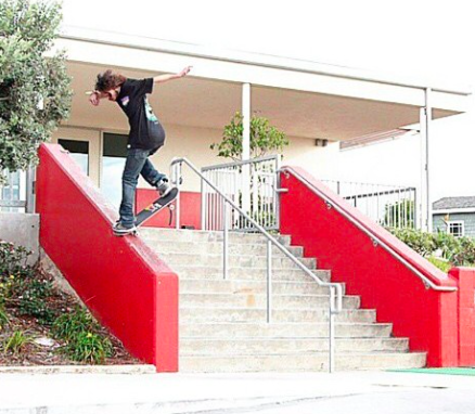 Torey Pudwill and a goofy backside noseblunt slide, taken from his  Instagram .