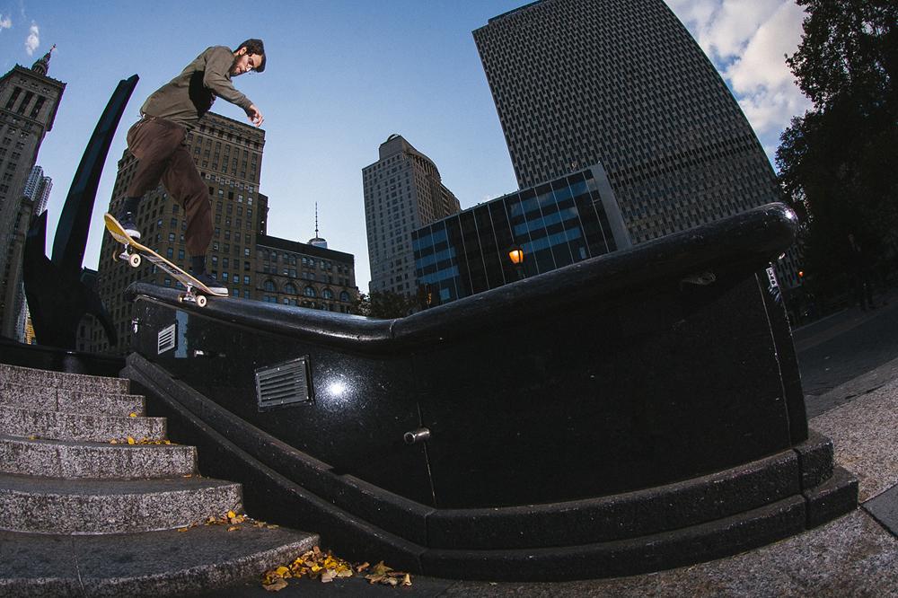 "Pat switch tail slides the infamous ""Blubba"". Photo:  Mike Heikkila"