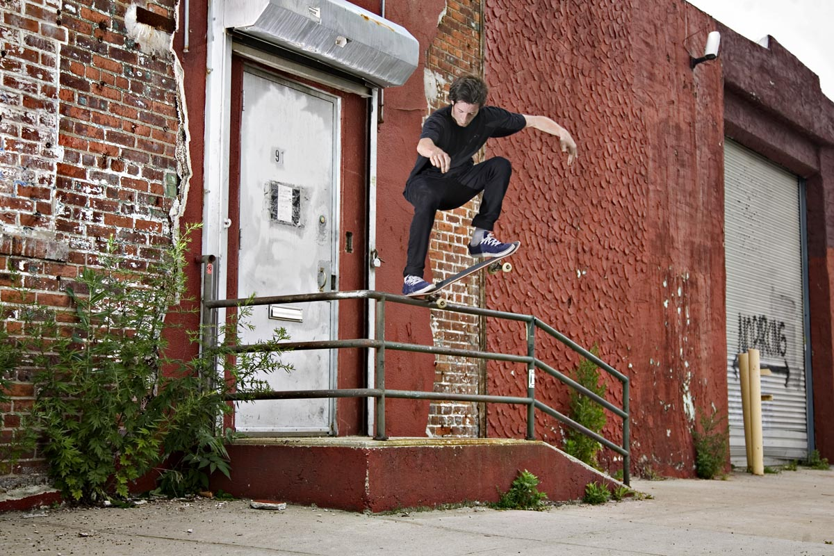 Cookie moved to CA, but he's not done with the East Coast. Nosegrind, Brooklyn, NY. Photo:  Chris Whitaker