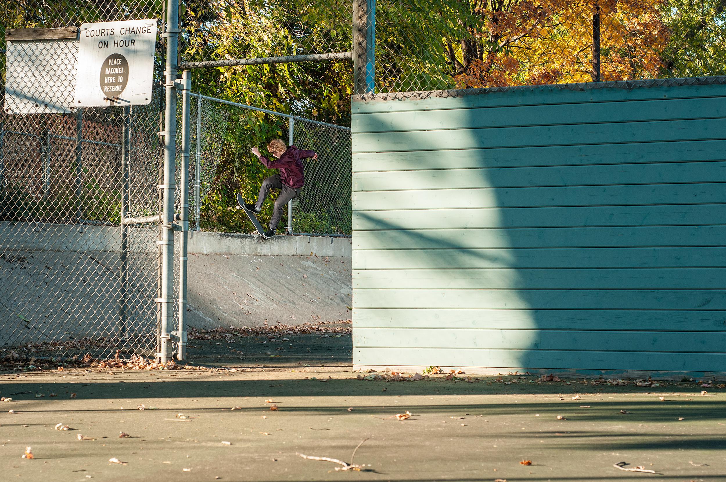 Jack noseblunts a classic Minnesota spot. Photo:  Trevor Nelson