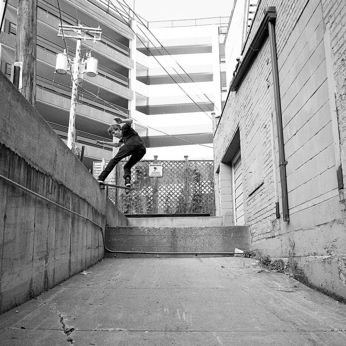 Yes, you're reading this correctly. Dom Randazzo has a part in this video. Frontside noseslide.