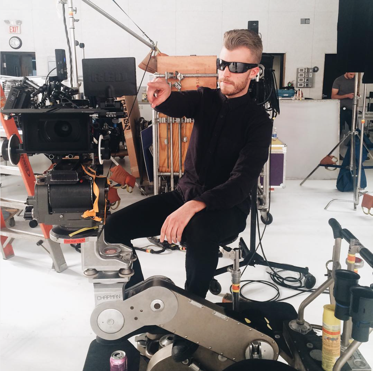 Kevin in auteur mode at his day job as a director of commercials.