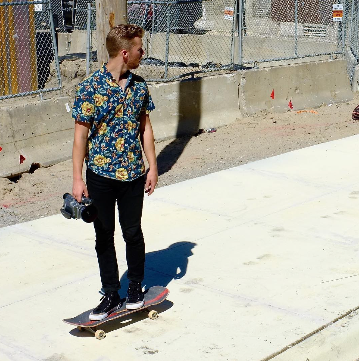 It's nice to see Kevin back on a skateboard, especially with a camera in hand.
