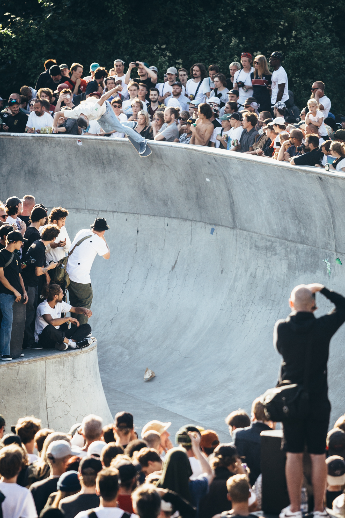 Rune Glifberg, backside smith grind at Copenhagen Open 2017. Photo: James Griffiths