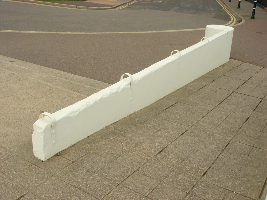 Skate stoppers. Bexhill-on-Sea, UK.