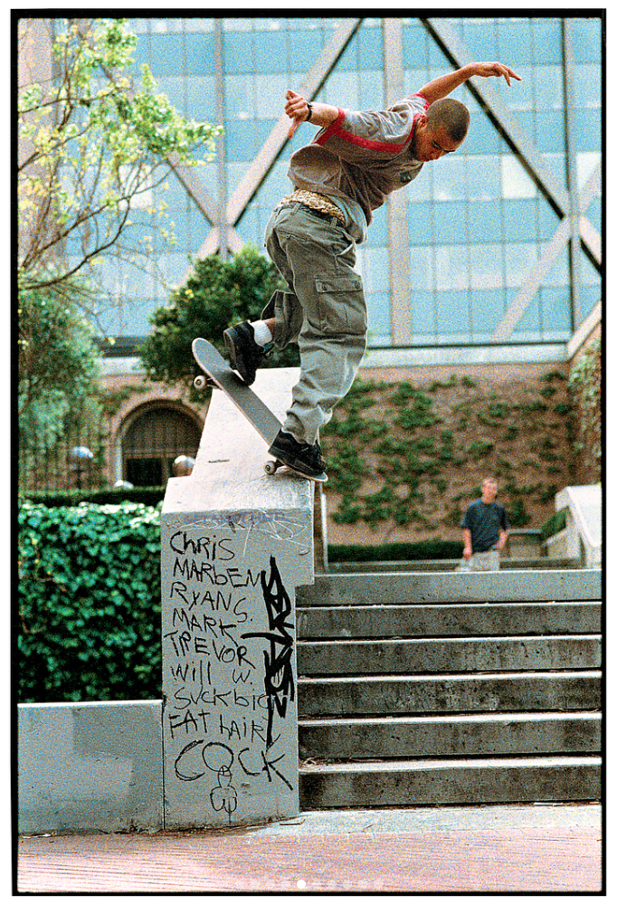 Eric Koston, backside noseblunt slide. 1998.