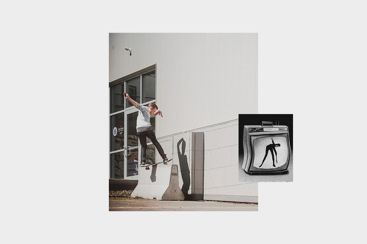 Steve Seitz, frontside boardslide. Photo by Stephen Pestalozzi.