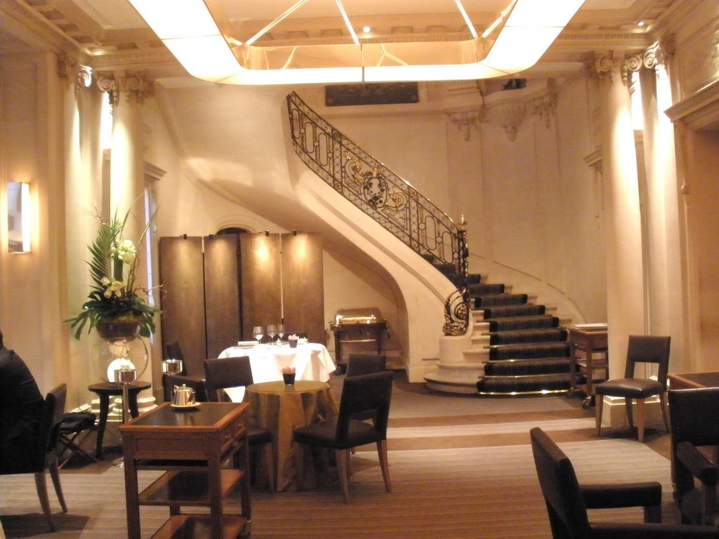 The grand staircase of Taillevent in Paris
