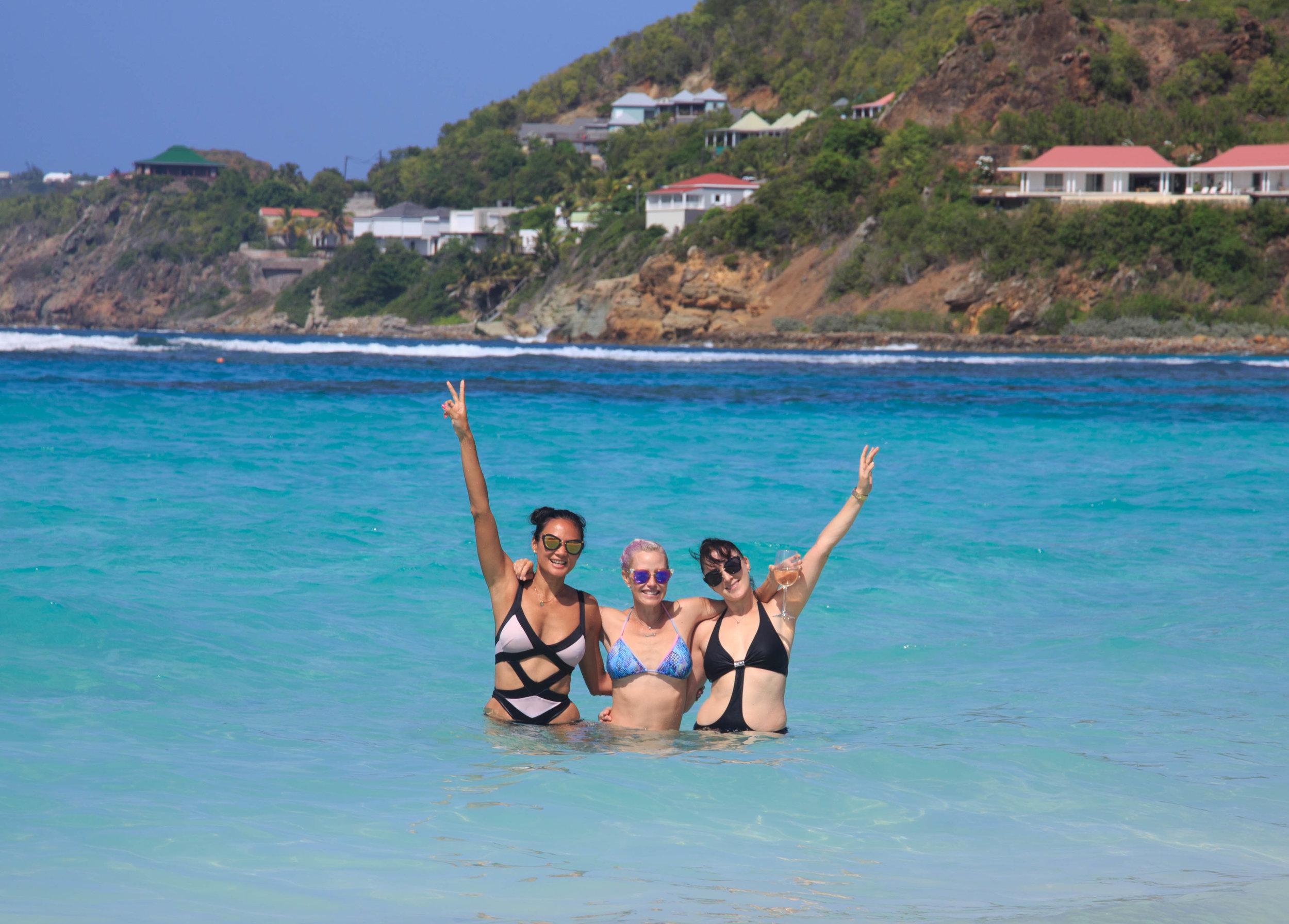 Girls on St Jean Beach by Stephenie Rodriguez