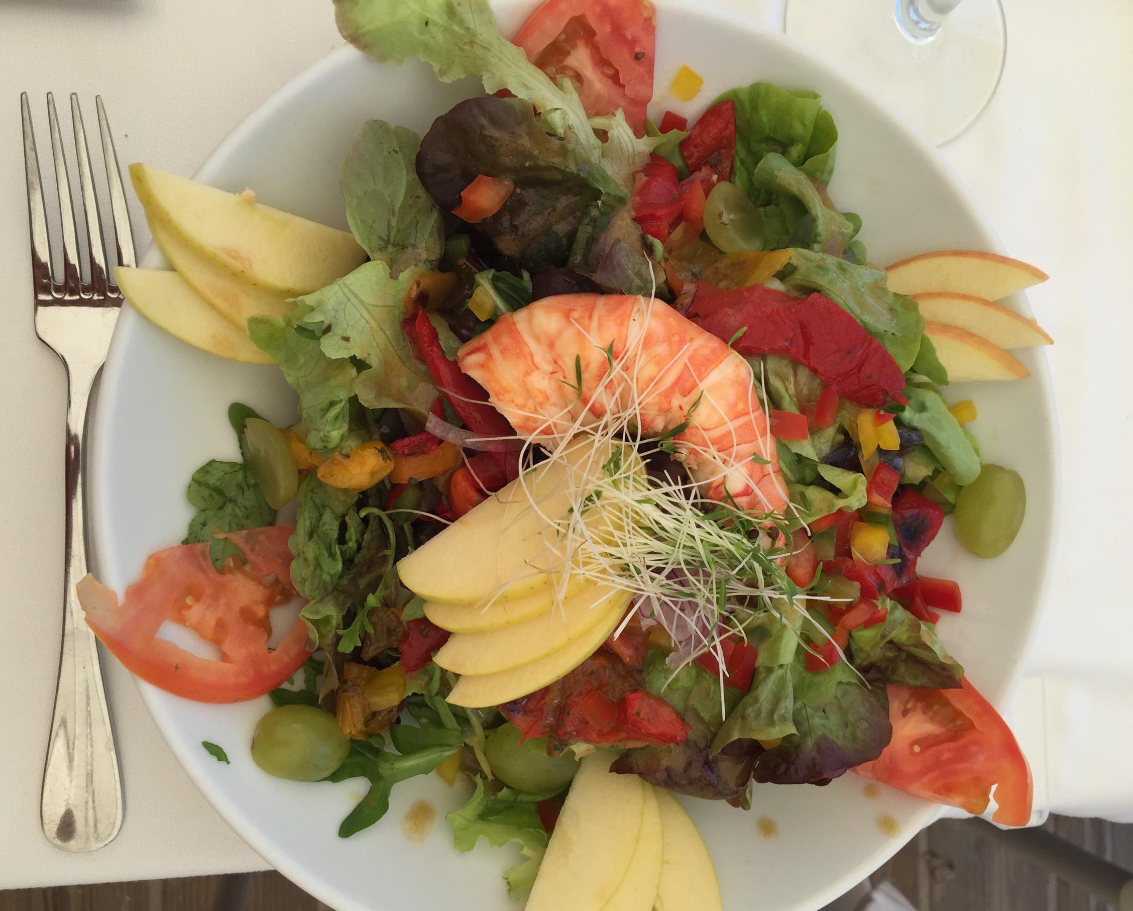 Lobster Salad at La Plage Tom Beach by Stephenie Rodriguez