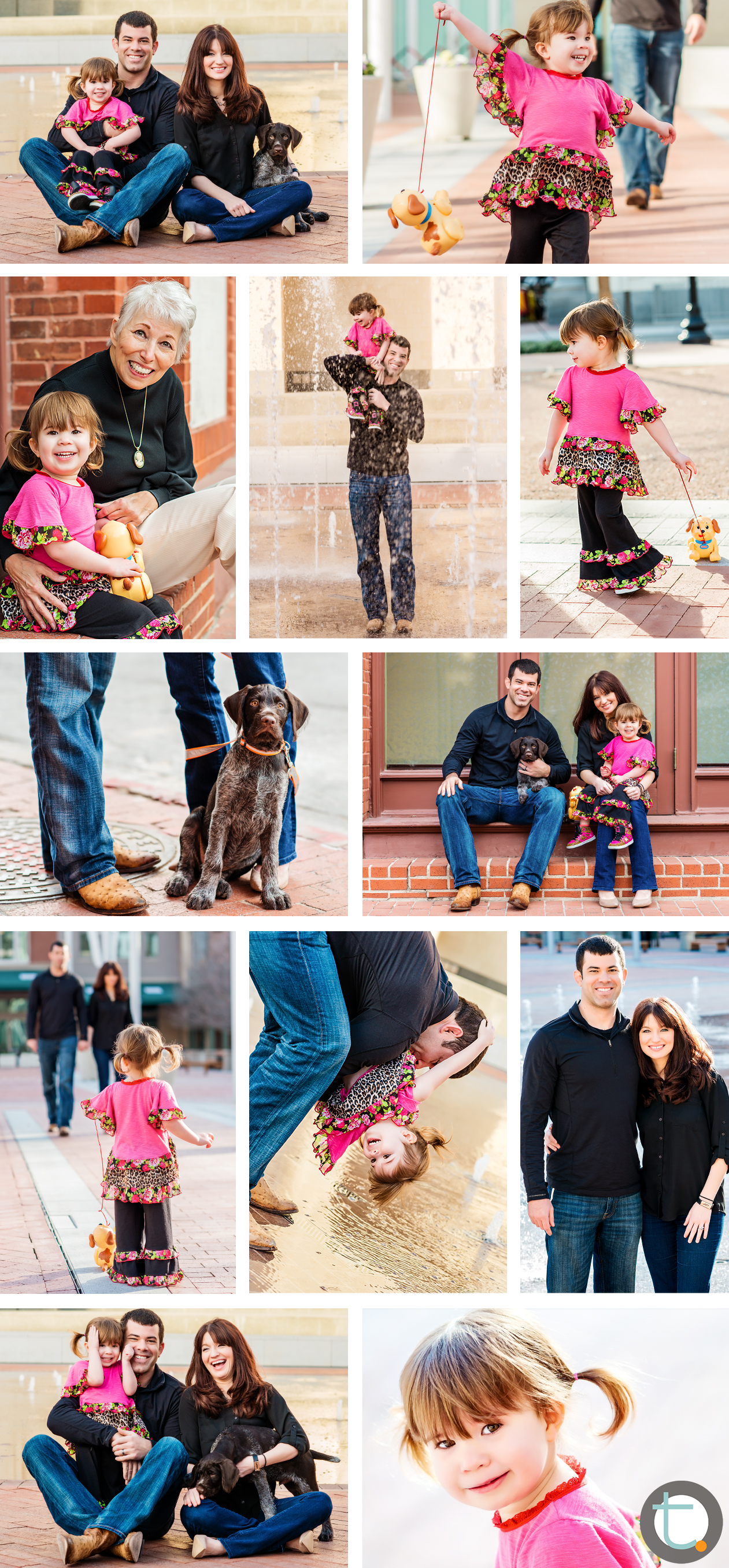 sundancesquare_plaza_fountains_dog_puppy_toddler_ftworth_portraits_tracyallynphotography_familyofthree