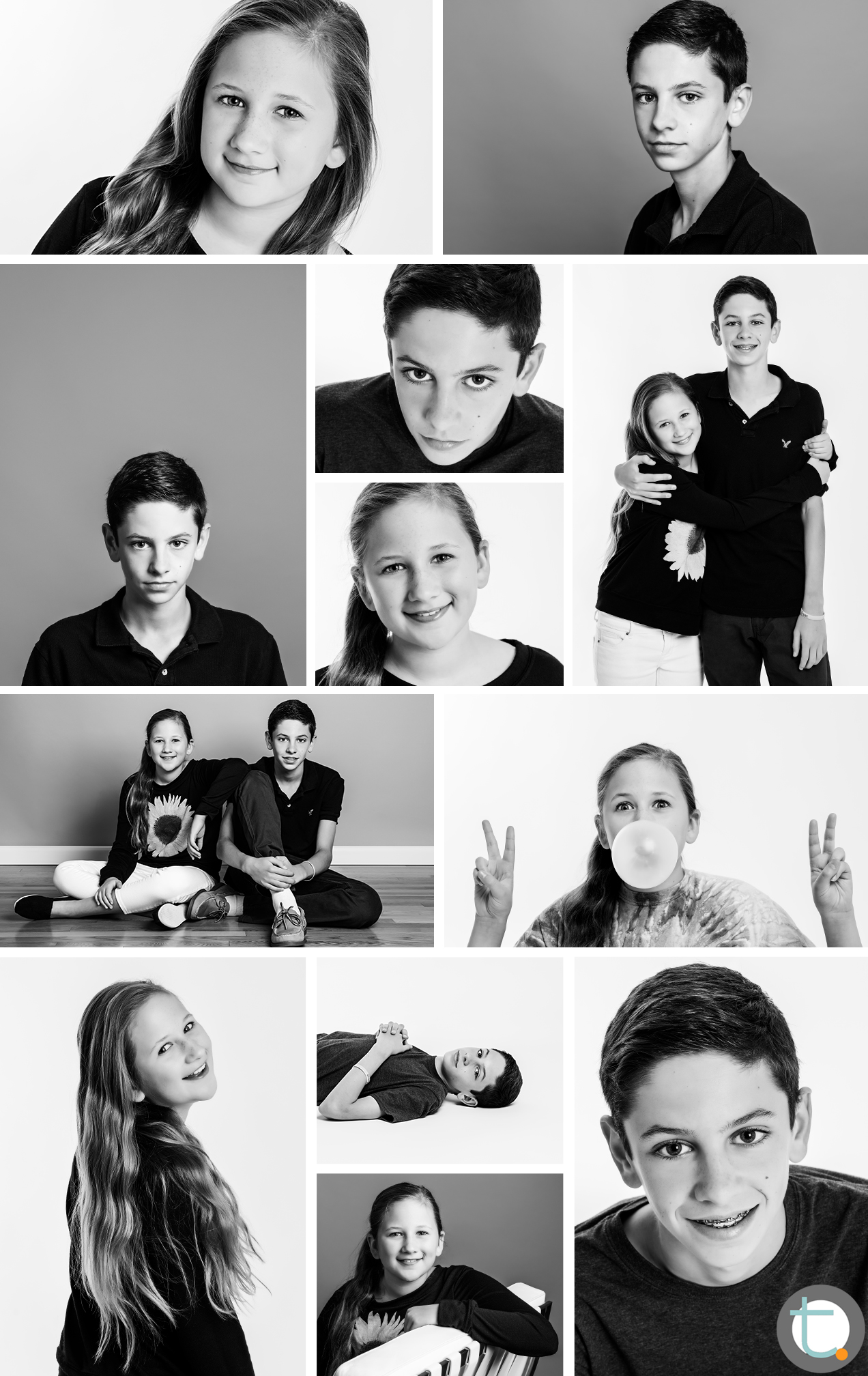 studio_portraits_BW_teens_brother_sister_teenager_tracyallynphotography_dallas_bryce_lexi