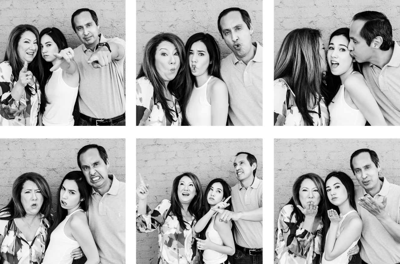 lineup_wall_photobooth_bw_family_funny_faces