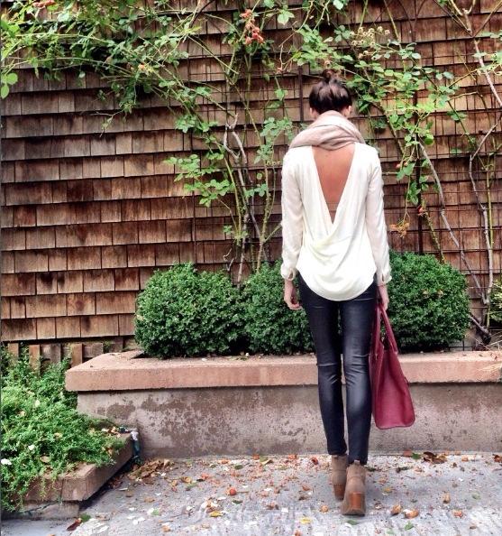 Shop the Look Below. Leggings: ASOS. Top: ASOS. Bag: Forever21. Scarf: H&M. Shoes: Dolce Vita via Tjmaxx.