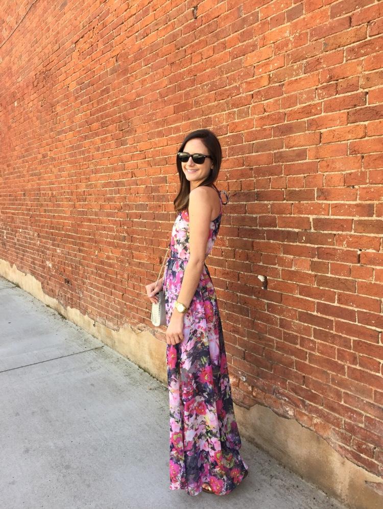 Shop the Look Below. Dress: Maggy London c/o. Bag: ASOS (Sold Out--See Similar below). Shoes: Sam Edelman. Sunglasses: RayBan