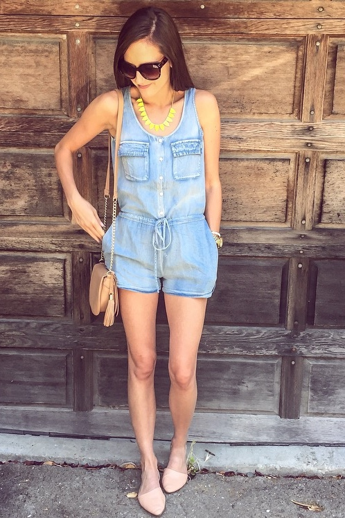 Shop the Look Below. Romper: c/o Pleated Empire. Necklace:c/o  BaubleBar . Bracelet: c/o  BaubleBar .Bag:  Forever 21.  Shoes:  Old Navy . Sunnies:  Lola Accessory Boutique