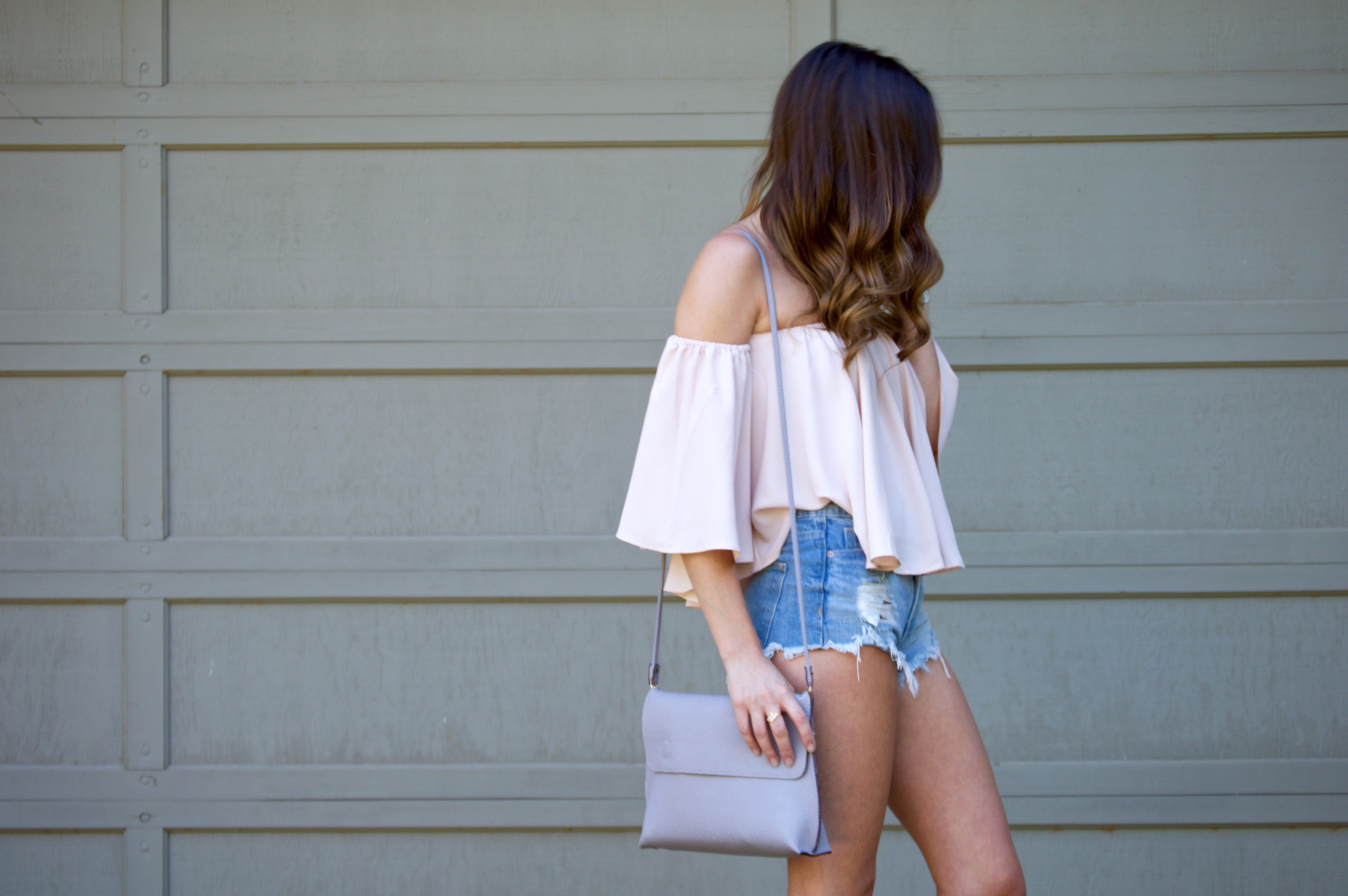 Shop the Look Below. Top:  ILY Couture . Shorts:  H&M . Bag:  Urban Outfitters . Necklace: c/o  BaubleBar . Shoes:  Nordstrom