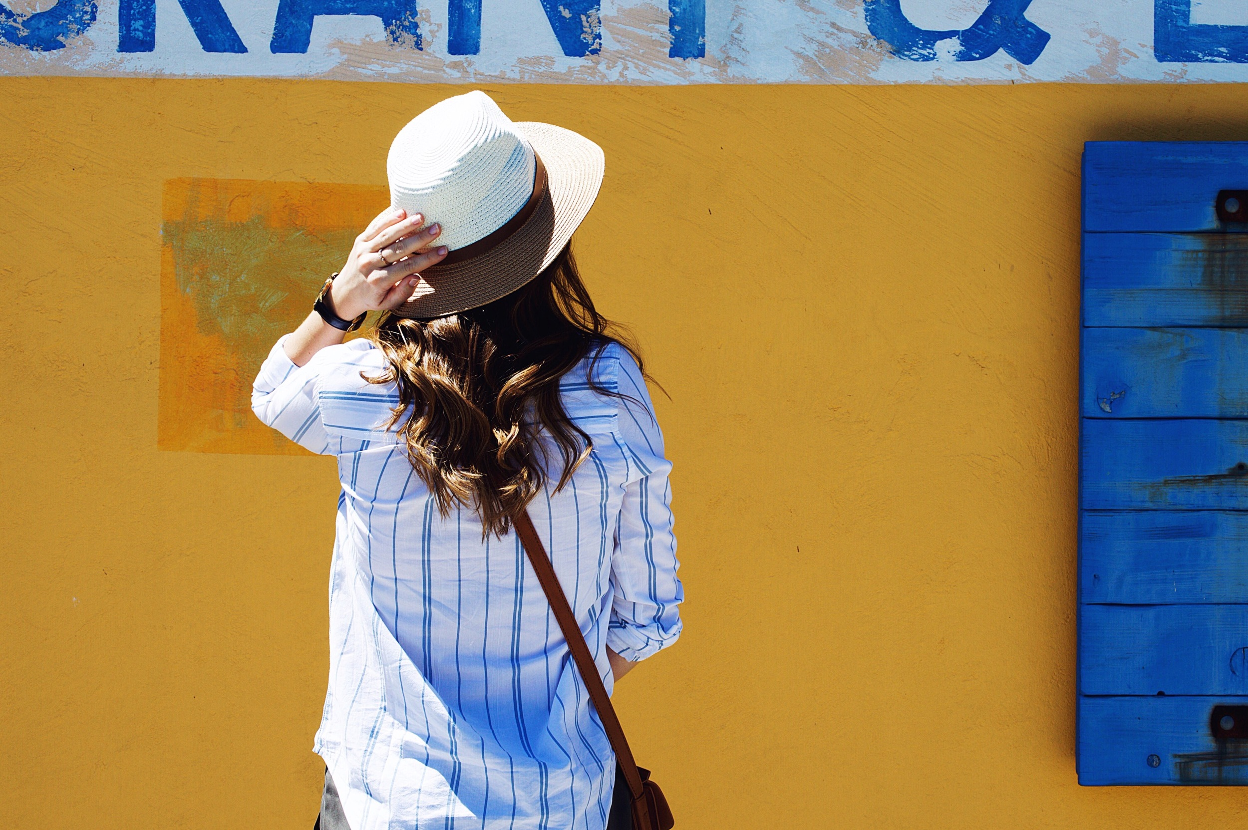 Shop the Look Below. Hat: c/o  SheIn . Top:  Nordstrom . Shorts:  Nordstrom . Bag: c/o  SheIn .