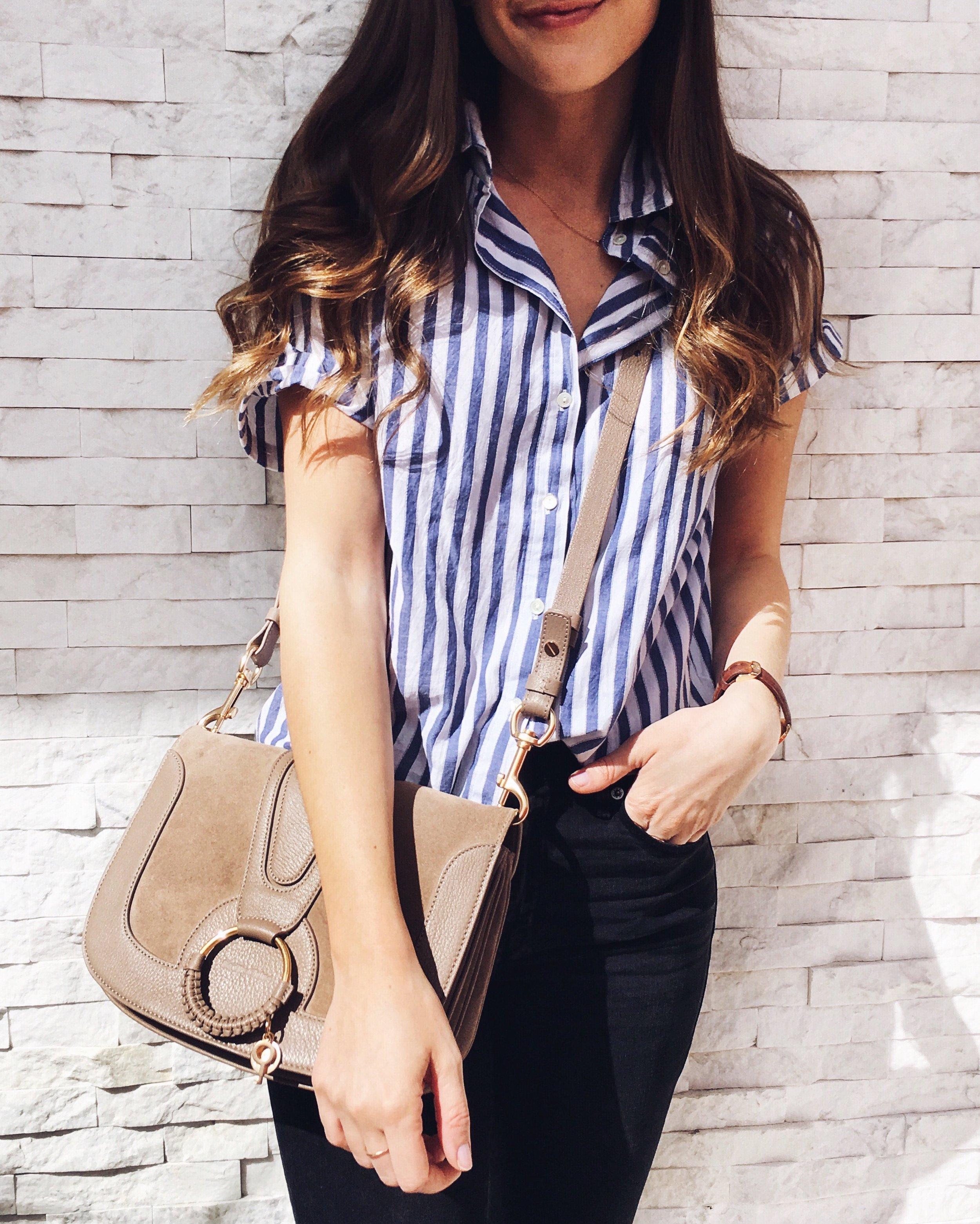 Velvet by Graham and Spencer Stripe Cotton Shirt