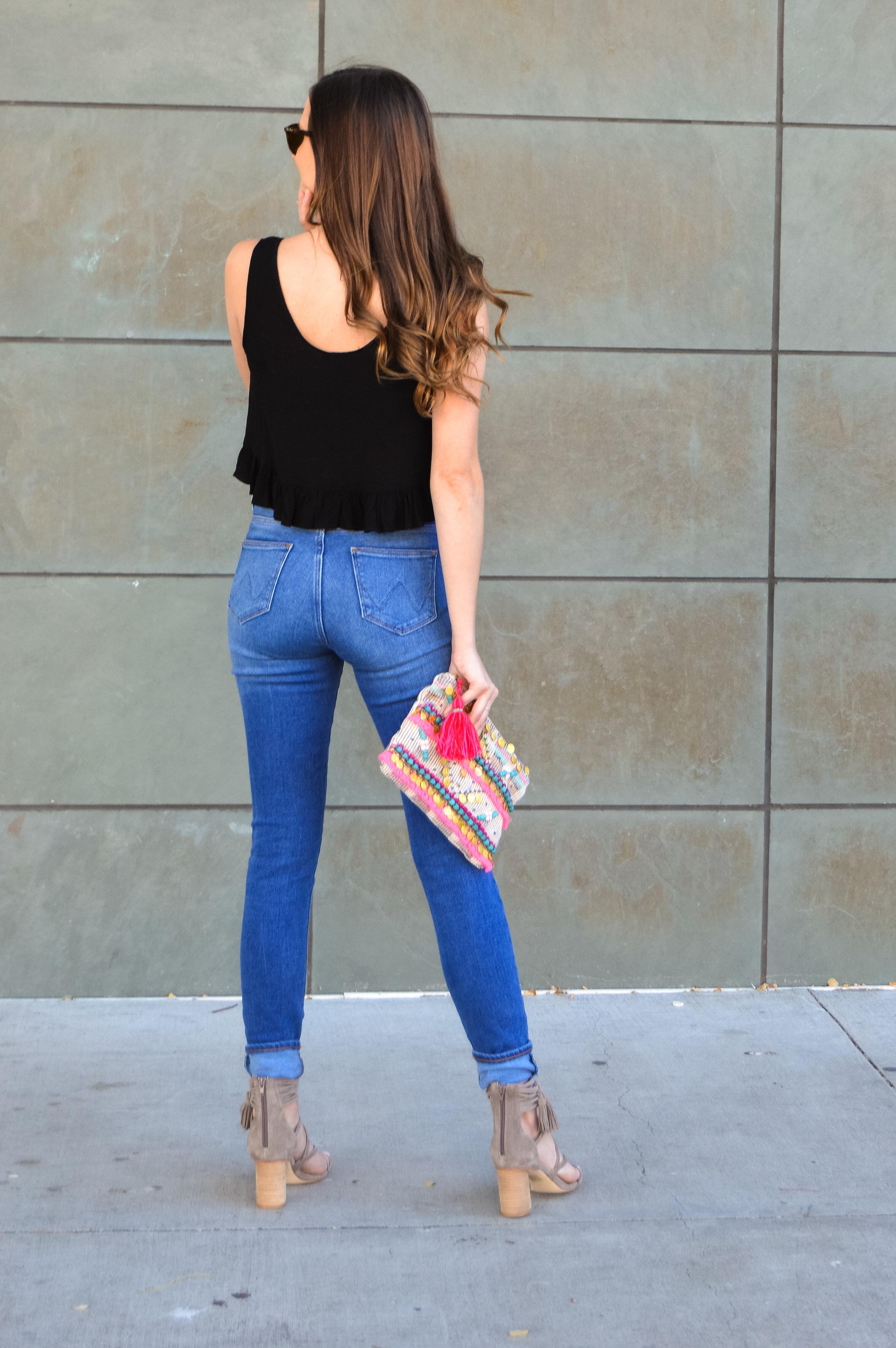 Wrangler Denim High Waist Blue Skinny Jeans