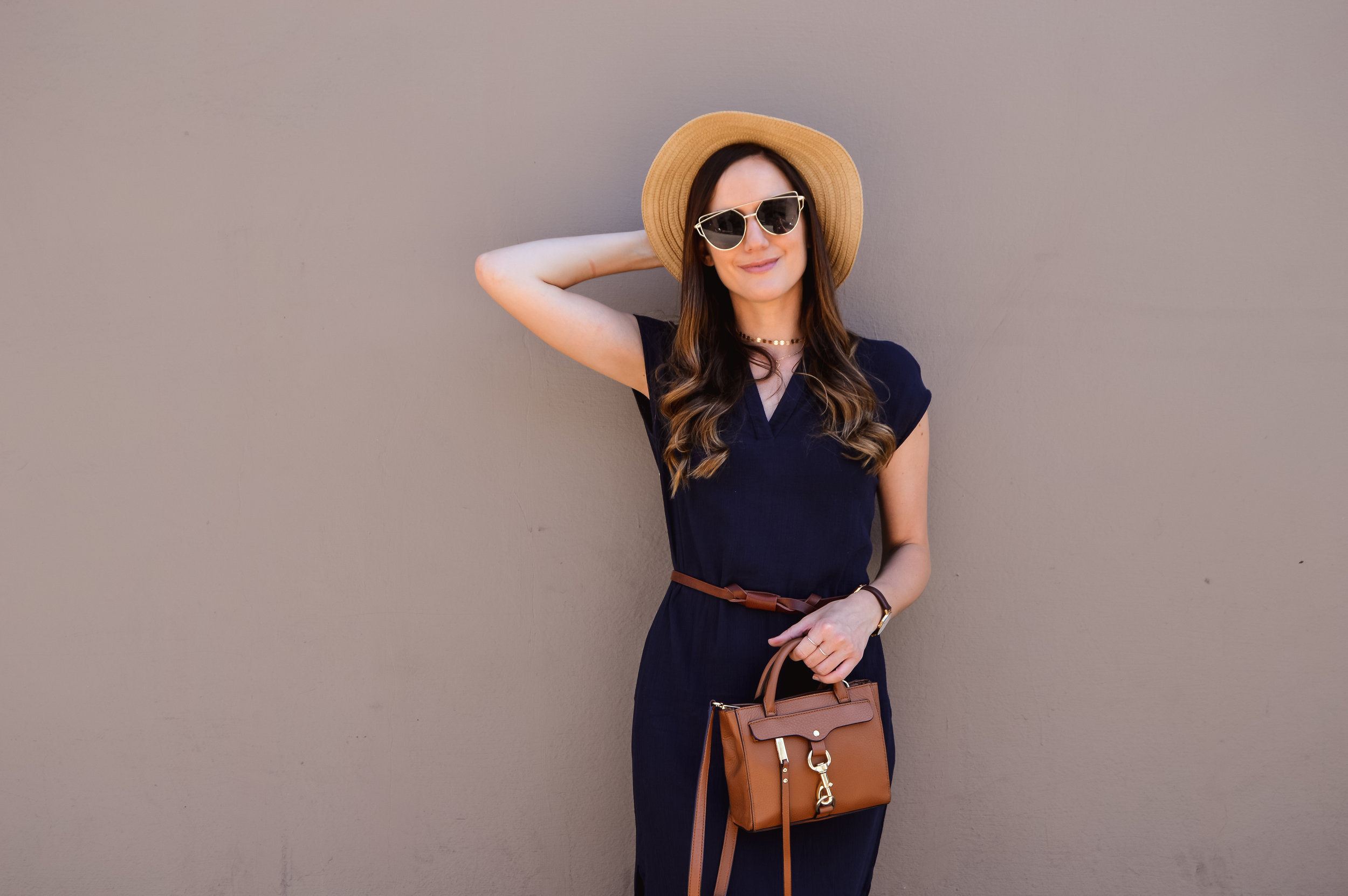 Straw boater hat for summer