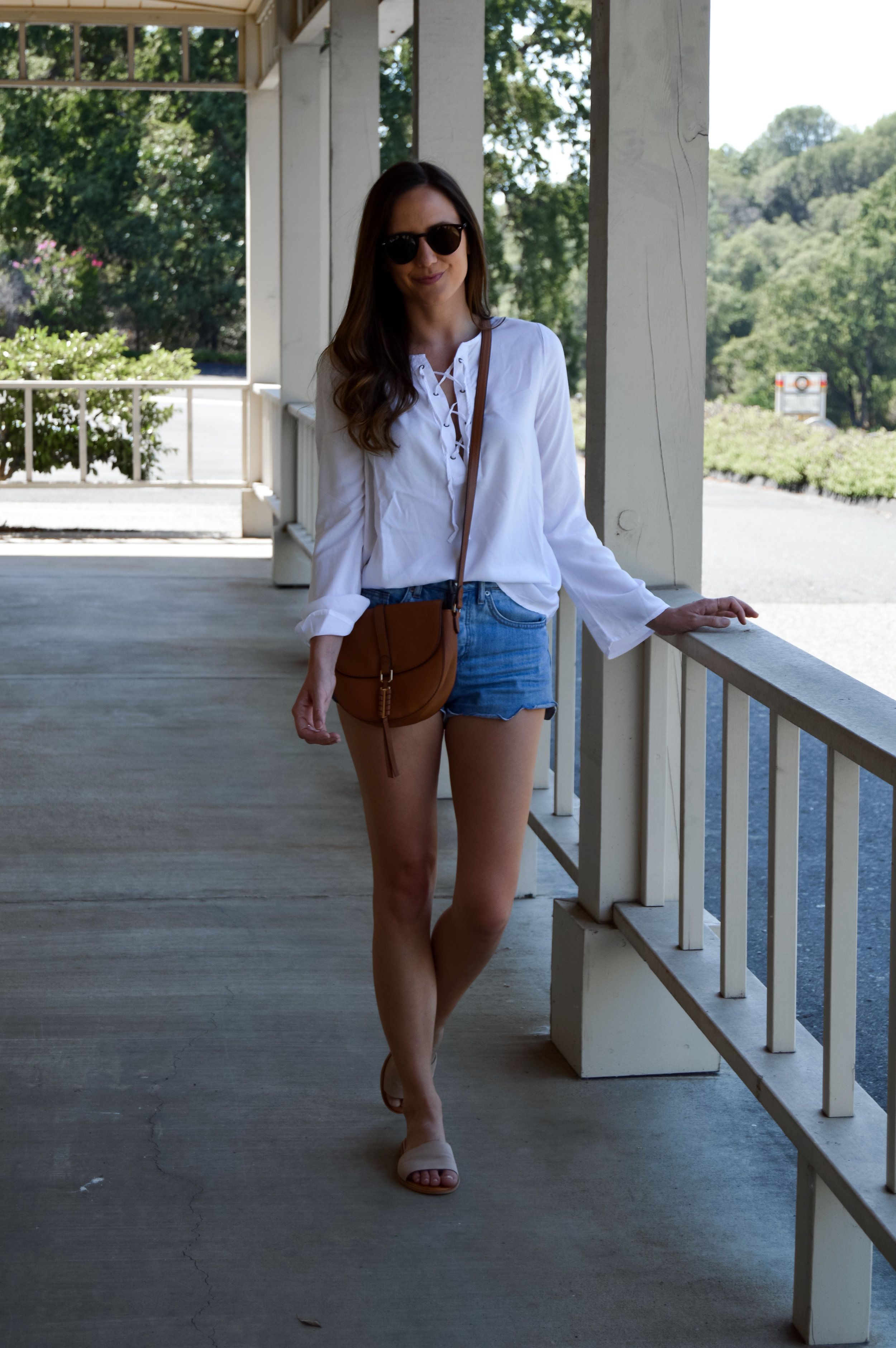 Nude blush slide sandals outfit