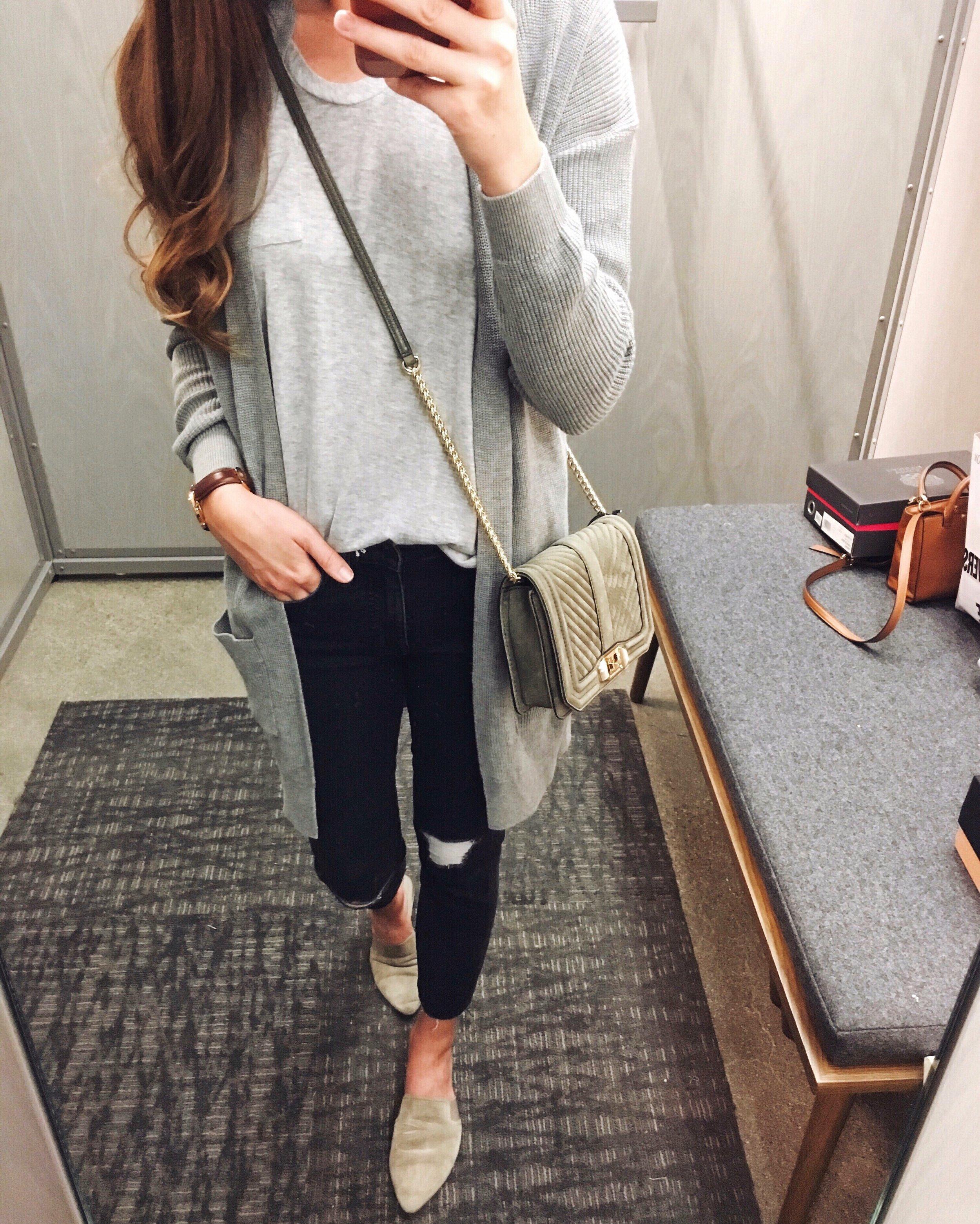 BP Cardigan  |  Madewell Jeans  |  Rebecca Minkoff Bag  |  Nordstrom Tee
