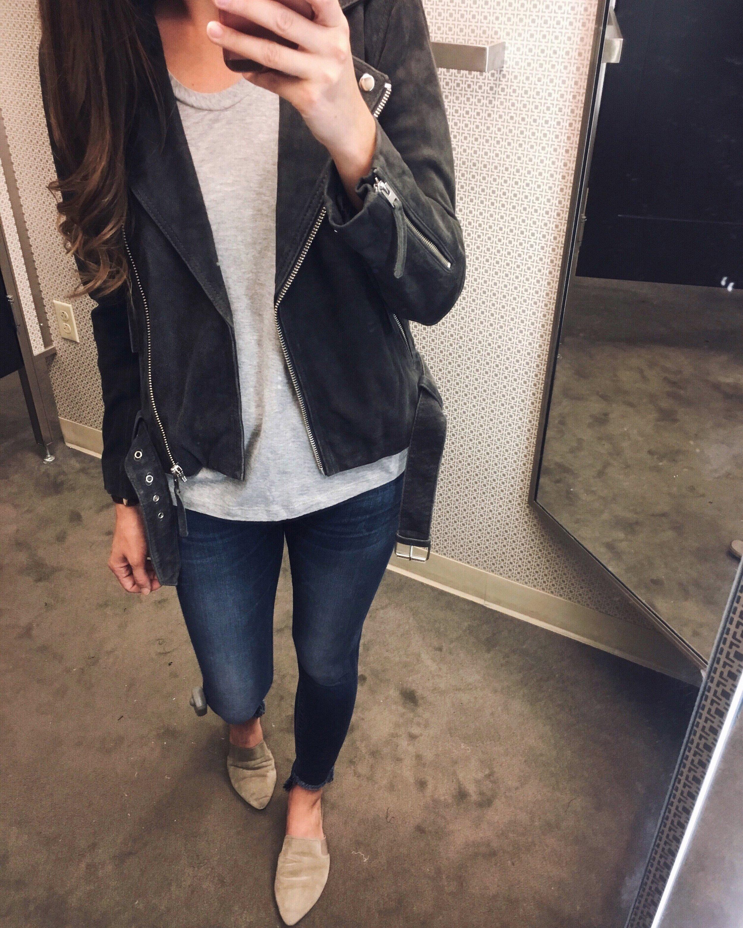 Topshop Jacket  |  Hudson Jeans  |  Vince Flats