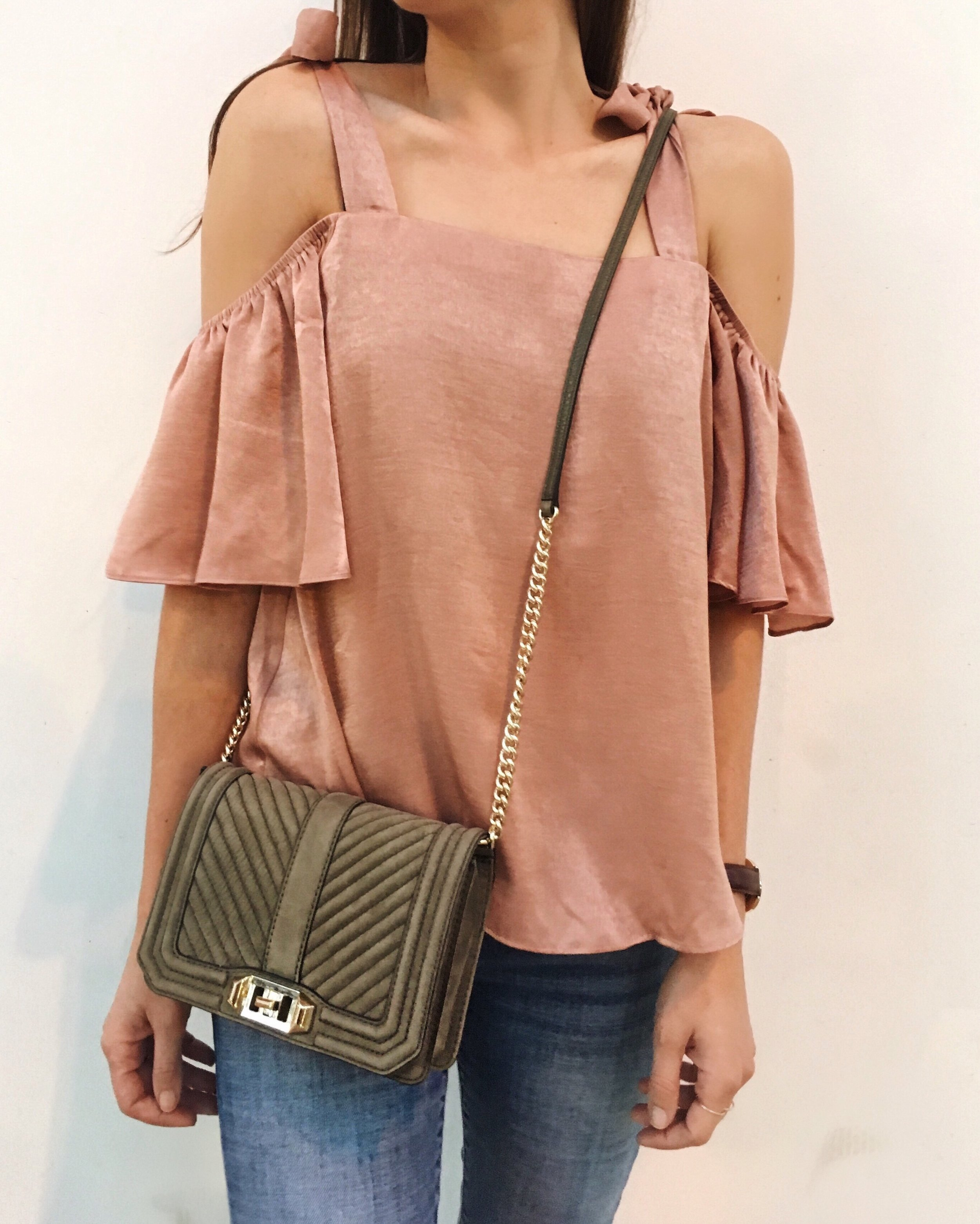 Nordstrom Top  |  Rebecca Minkoff Bag