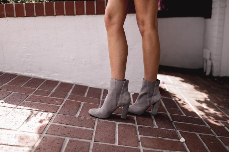 grey suede midi boots