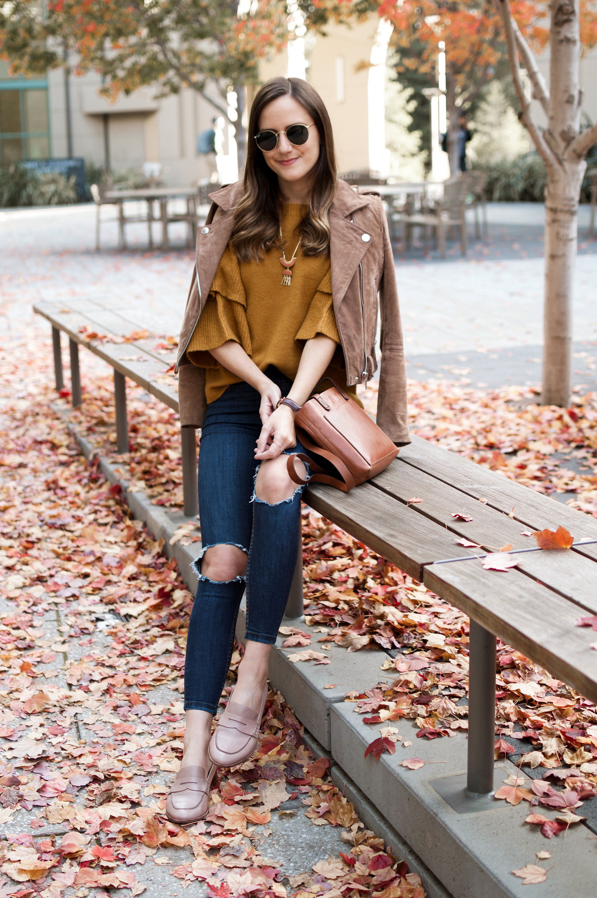 Mustard Sweater Outfit