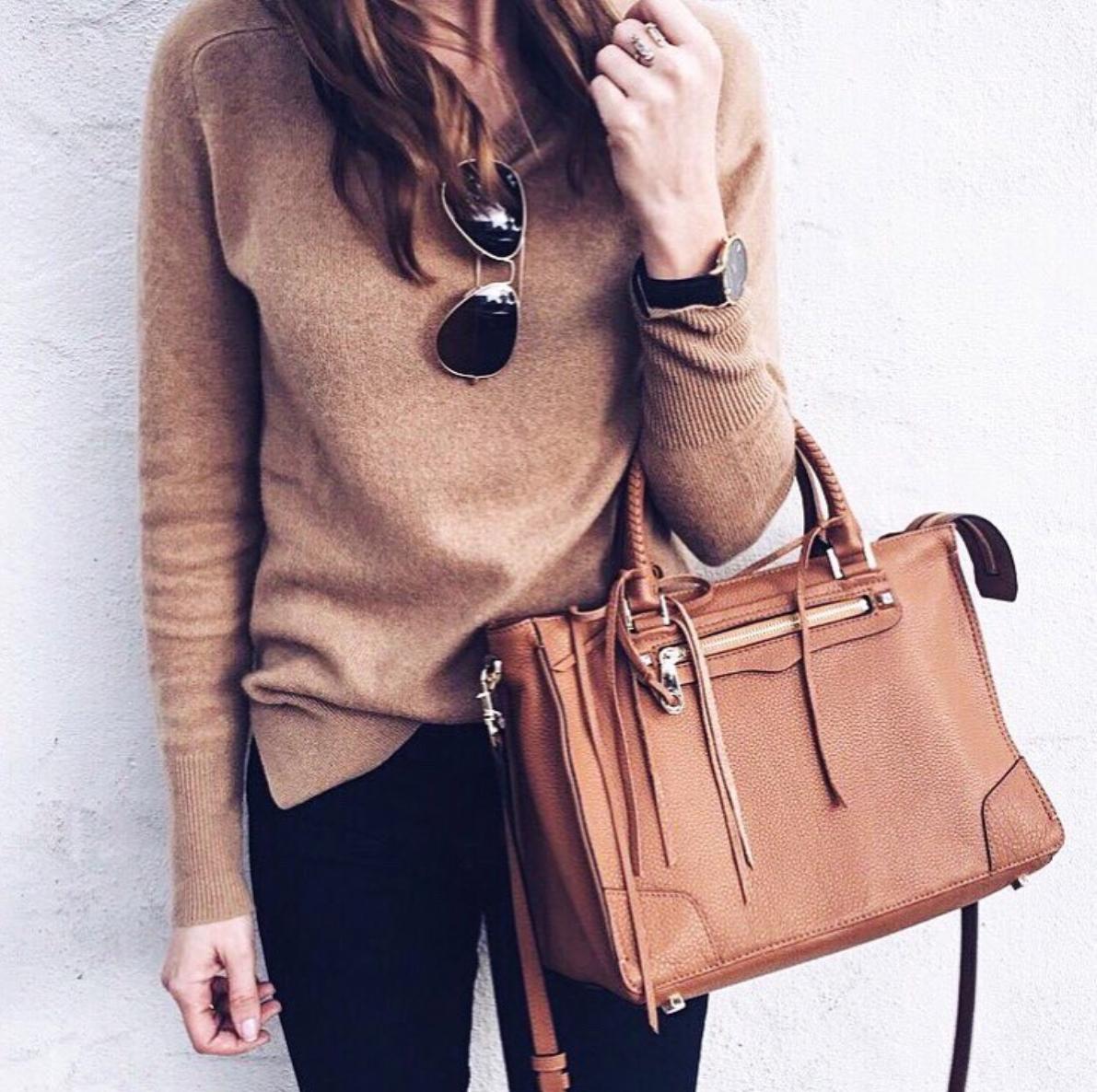 Cashmere Sweater |  Rebecca Minkoff Bag  - on sale!