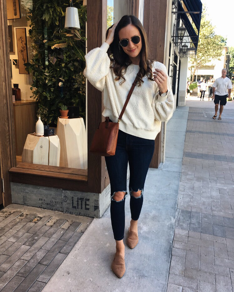 cream sweater outfit