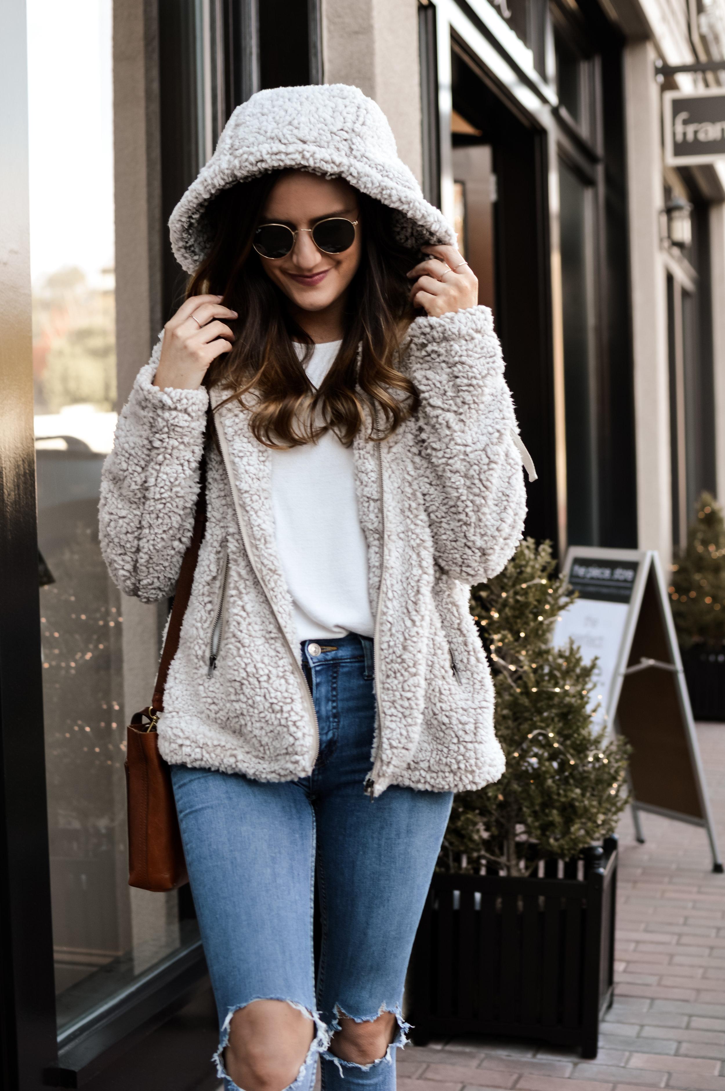 hooded teddy bear coat