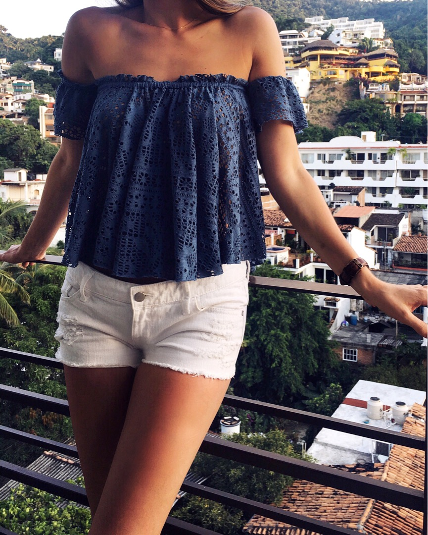 off shoulder vacation style