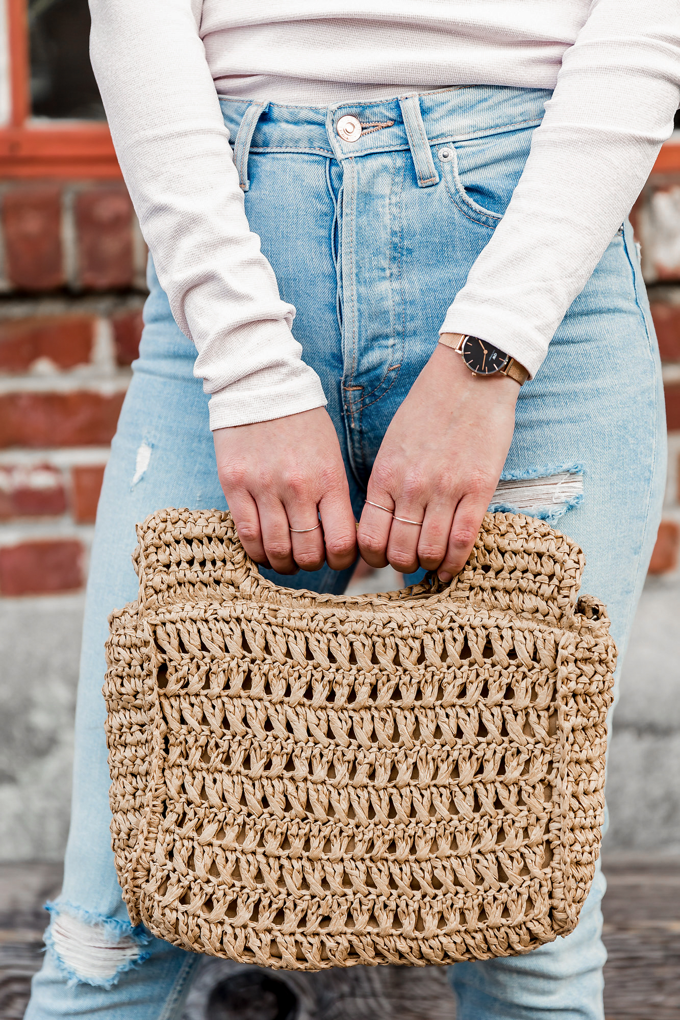 woven clutch for spring