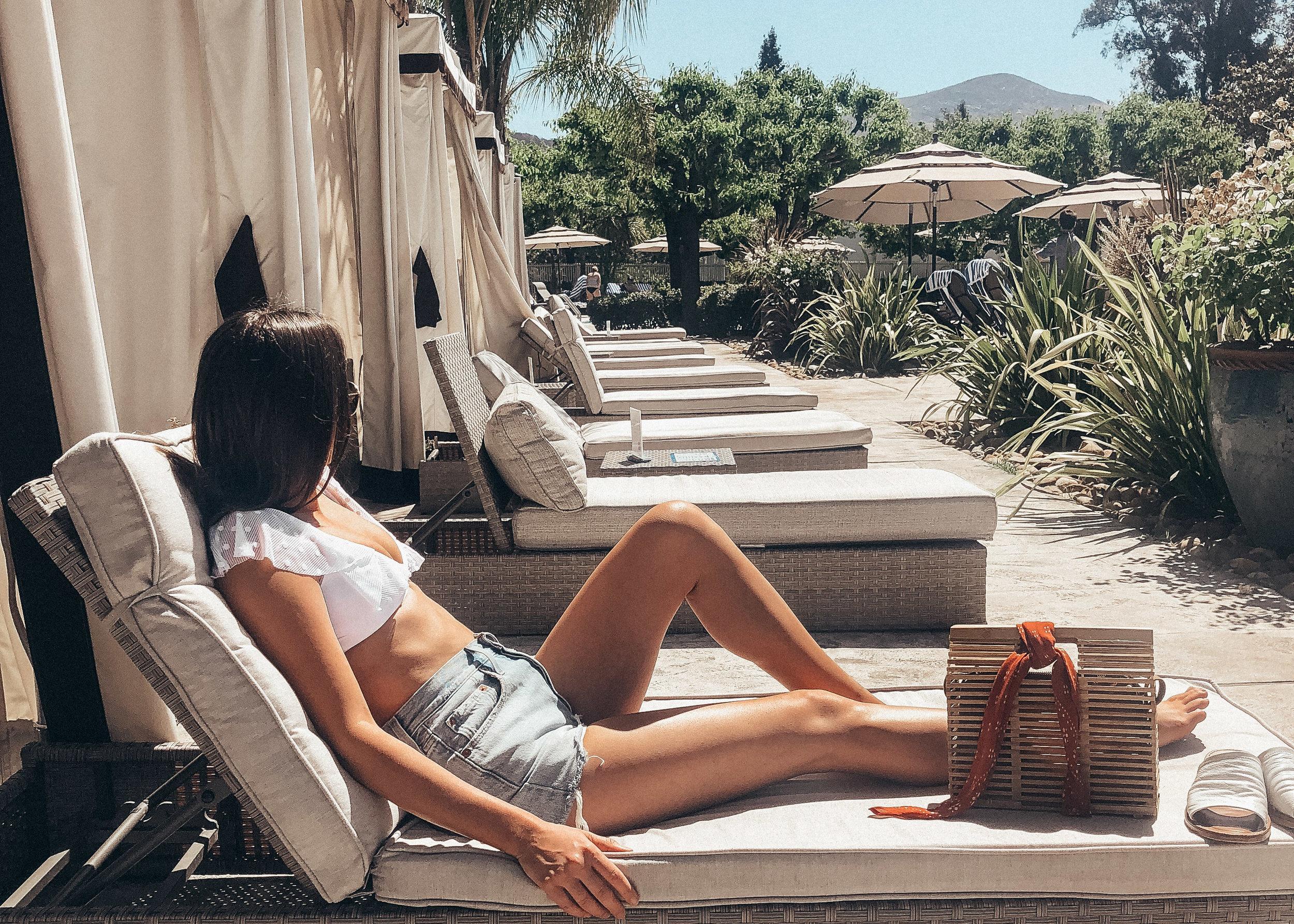 white summer bikini