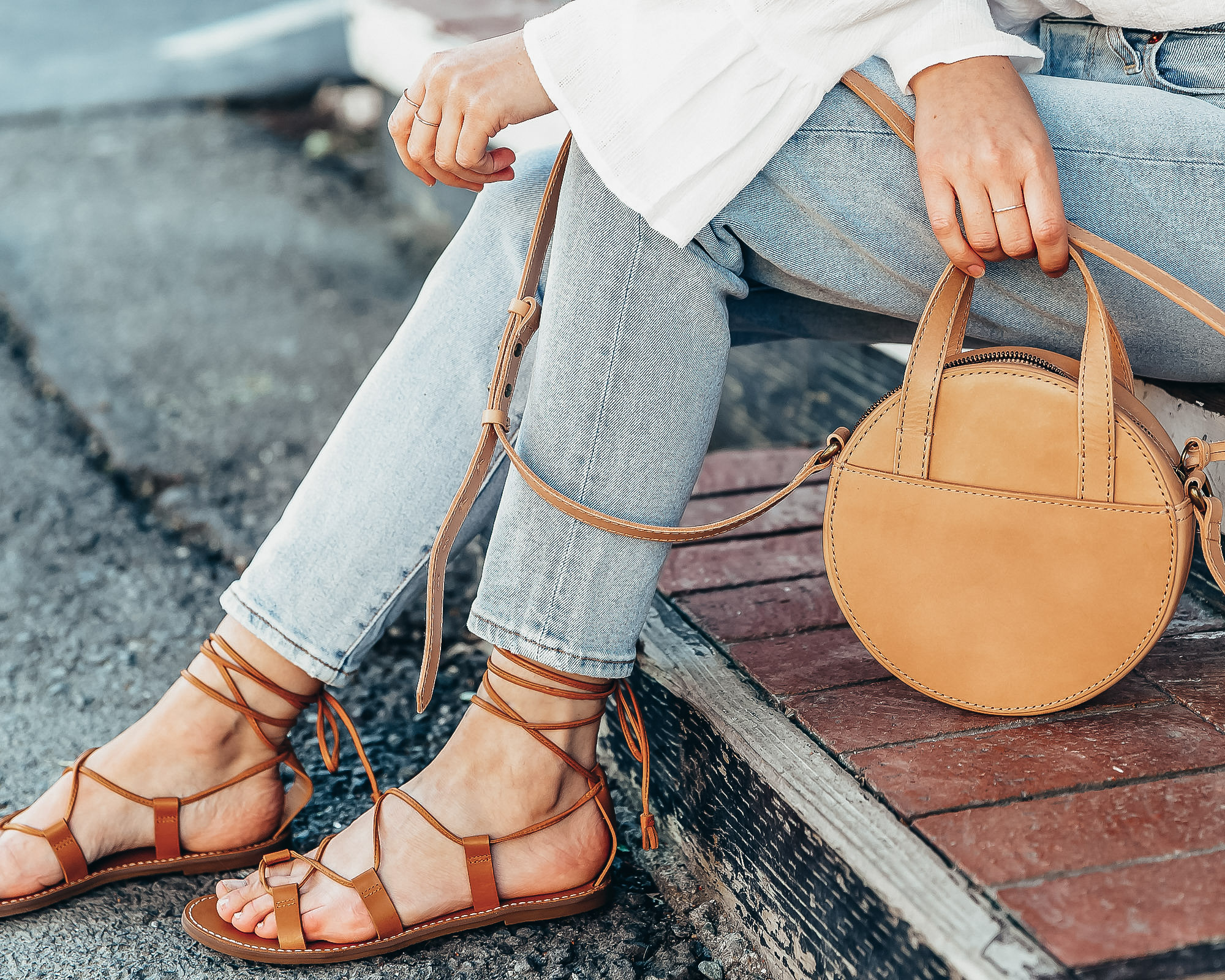 summer lace-up sandals