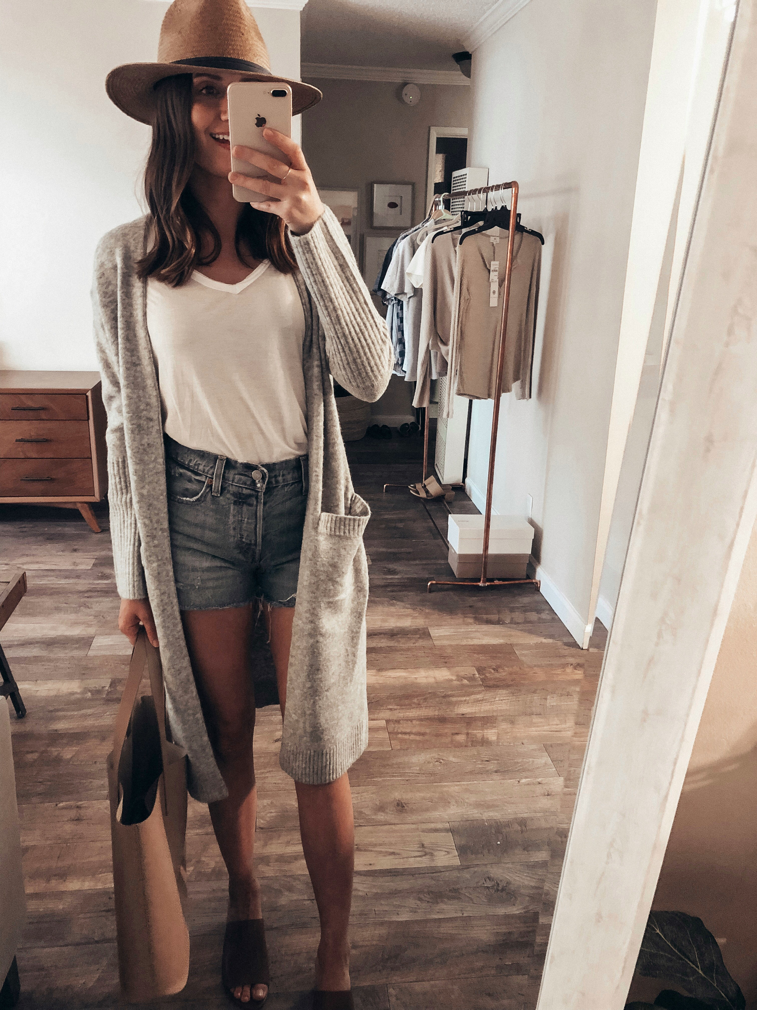 grey duster cardigan