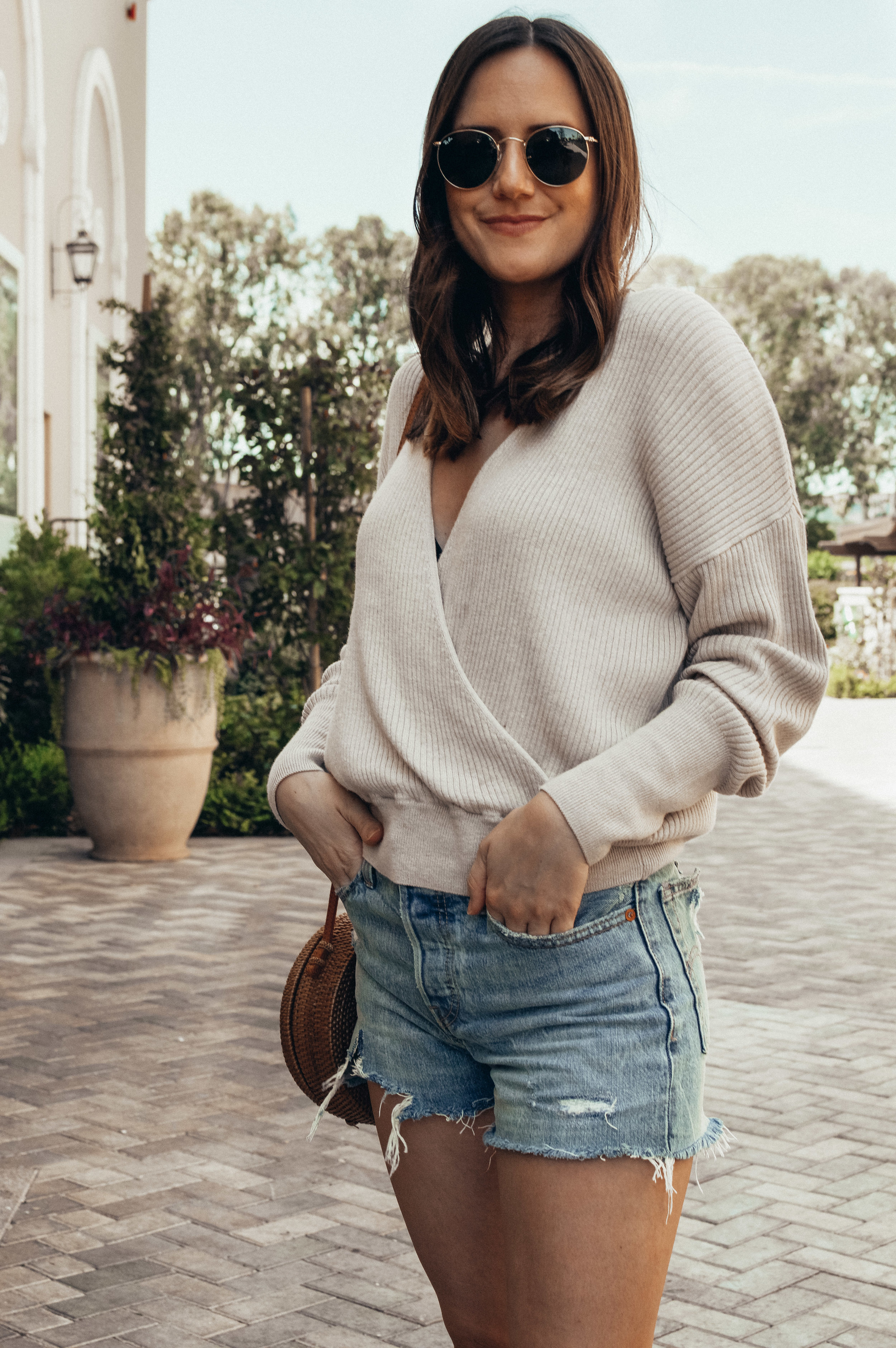 wrap sweater outfit