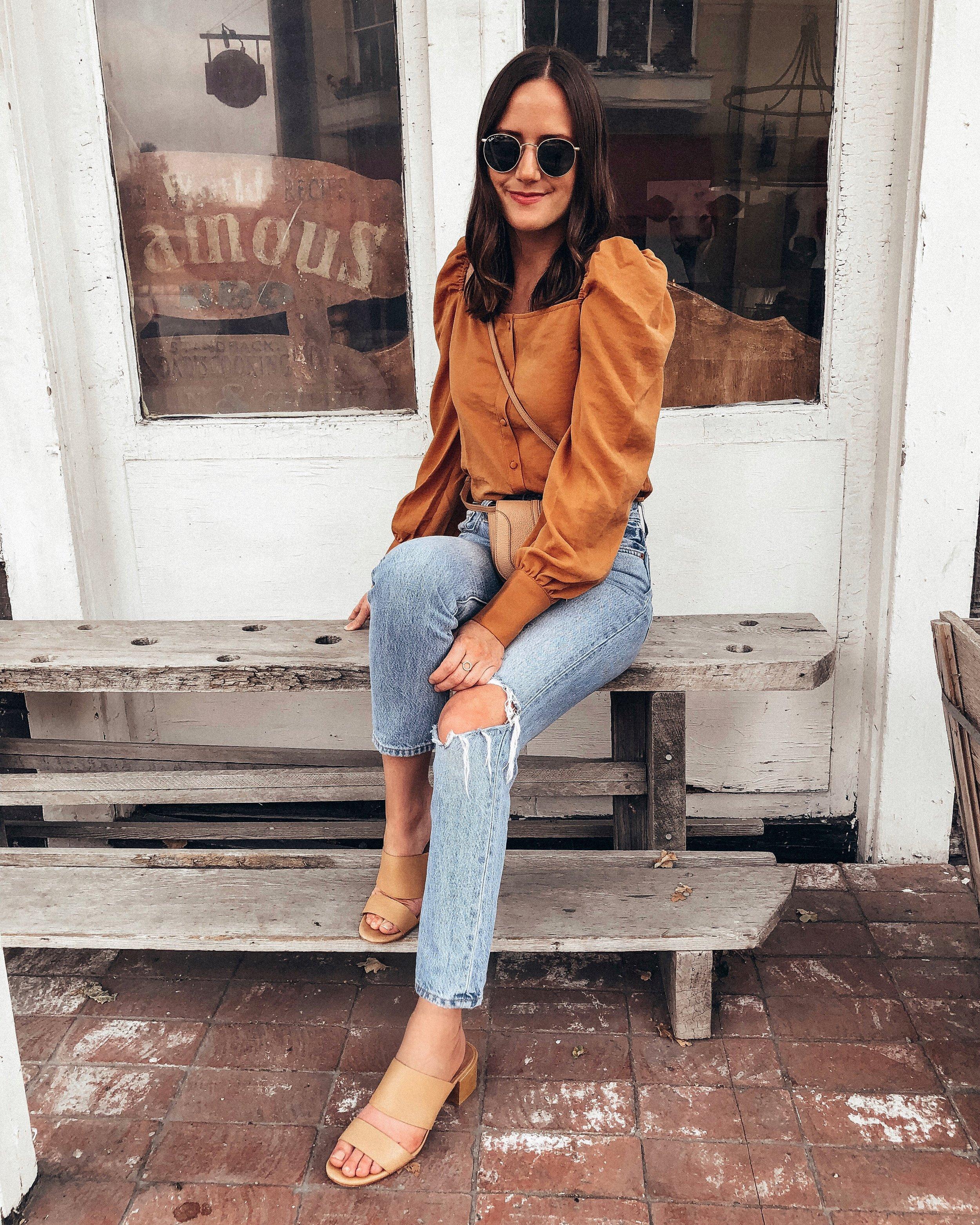 Shop the Look Below.  Line & Dot Top  |  Levi's Jeans