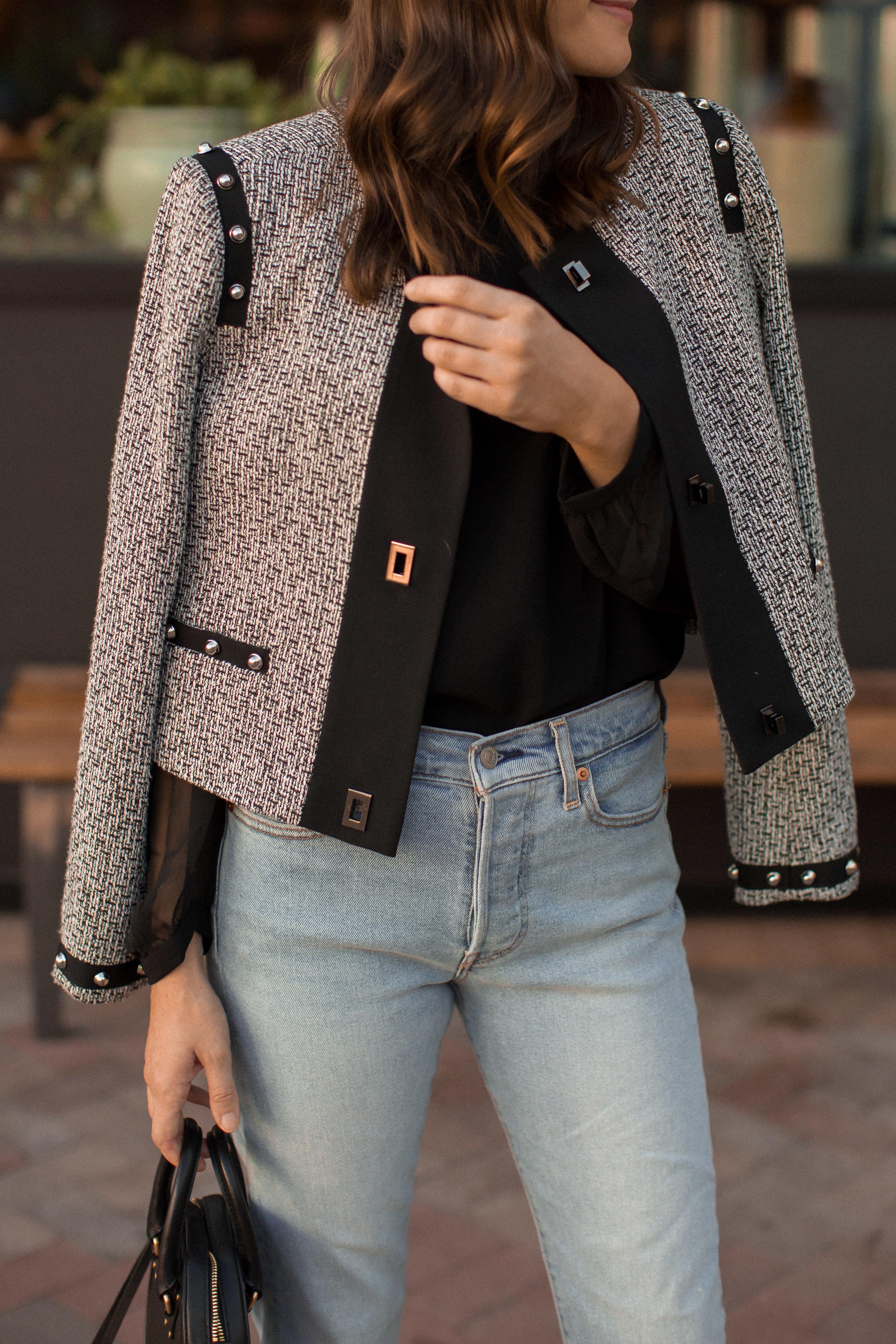 tweed jacket outfit